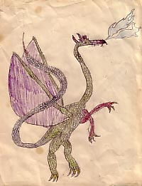A dragon I drew when I was 10 or so.